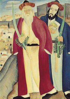 Succot in Jerusalem, Reuven Rubin, 1926. The Rubin Museum, Tel Aviv. Chag Sameach! חג סוכות שמח