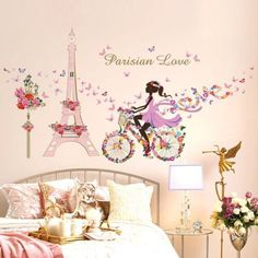 Romantic-Paris-Removable-Vinyl-Wall-Sticker-Decal-Mural-Art-DIY-Home-Room-Decor