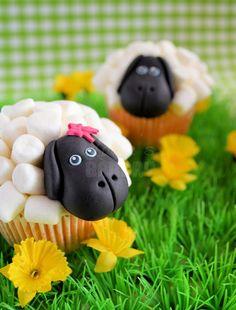 schapen cupcakes