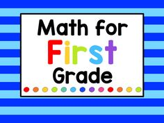 Math items for first grade. Includes math games, printables, resources, math centers, math lessons and anything to make math fun and interesting for first grade. Enjoy!