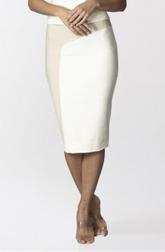 Embroidered pencil skirt - Cream | Skirts & Shorts | Ted Baker ...