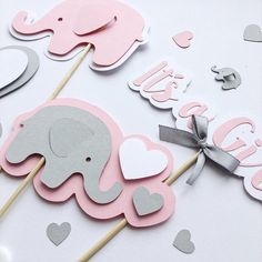 Excited to share the latest addition to my shop: Pink Gray Elephant Centerpieces Girl Baby Shower Centerpieces Elephant Its a Girl Sticks Elephant Girl First Birthday Table Decoration Baby Shower Songs, Cricut Baby Shower, Baby Shower Niño, Baby Girl Shower Themes, Unique Baby Shower, Elephant Baby Shower Centerpieces, Baby Shower Table Decorations, Elephant Party, Elephant Baby Showers