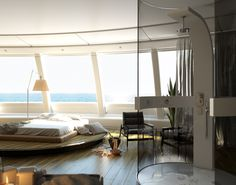 Minimal Experience il design moderno che si sposa con qualsiasi ambiente Modern design suitable for any environment Curtains, Shower, Space, Minimal, Home Decor, Environment, Rain Shower Heads, Floor Space, Blinds