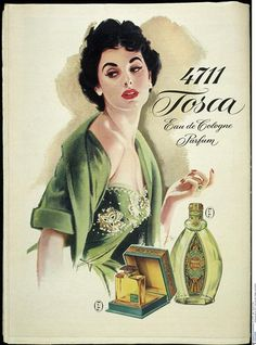 Vintage and creative perfume bottles and scent bottles Perfume Ad, Vintage Perfume Bottles, Vintage Makeup Ads, Vintage Beauty, Vintage Advertising Posters, Vintage Advertisements, Pub Vintage, Beauty Ad, 1950s