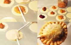 Hacer de nuestras empanadas unas originales piruletas.