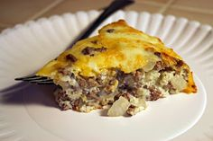 A Lazy Girl's Guide to Living Gluten Free: Impossibly Easy Cheeseburger Pie