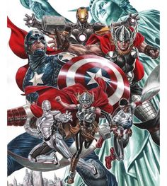 Marvel Comics Thor, Iron Man & Captain America by Mark Brooks.