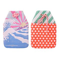 Wonderful colour scheme for these pouches! Japan Design, Craft Packaging, Packaging Design, Monte Fuji, Japanese Packaging, Design Art, Print Design, Japanese Art, Japanese Style