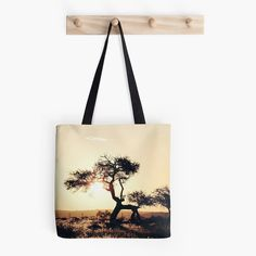 Sunset Tree Tote Bag by VQSTUDIO on Etsy