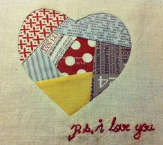 Paper Pieced Heart Quilt Block – Tutorial | http://fabricshopperonline.com/paper-pieced-heart-quilt-block-tutorial/