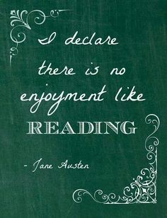 No enjoyment like reading