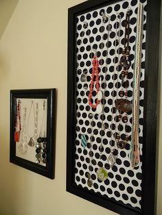 DIY instructions for a necklace holder