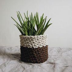 Crochet basket by Dwa Guziki |kosz-natural-DwaGuziki