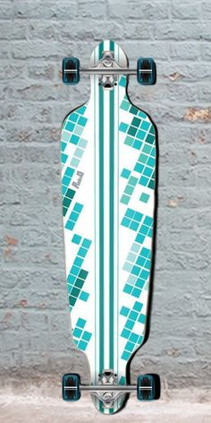 "Longboards USA - Punked White Digital Wave Drop Through Longboard 40"", $108.00 (http://longboardsusa.com/punked-white-digital-wave-drop-through-longboard-40/)"