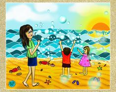 Fondest memories of childhood 🌊Chowpaty ... visiting the beach, blowing bubbles and watching kids play and beautiful sunset☀️ Relive old memories.. You might be surprised at how these little things bring you more joy than the large ones you have been chasing #beachstories #childhoodmemories #kids #digitalart #myartwork🌟#drawing #illustration #myartwork #digitalpainting #artist #artistsoninstagram #drawingoftheday #arttherapy