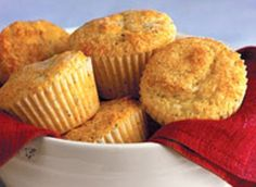 Lemon Poppy Seed Muffins - get recipe here: http://www.dailymail.co.uk/health/healthadfeatures/article-1254650/Recipe-Lemon-poppy-seed-muffins.html