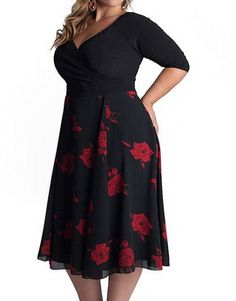 Modelos de Vestidos Plus Size - Voc& sempre linda! Looks Plus Size, Curvy Plus Size, Moda Plus Size, Plus Size Women, Vestidos Plus Size, Plus Size Dresses, Plus Size Outfits, Big Size Dress, Curvy Girl Fashion