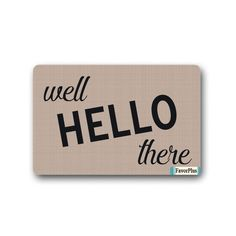 FavorPlus Well Hello There Indoor/Outdoor Decor Rug Doormat 30(L)X18(W) Inch Non-Slip Home Decor ** More info could be found at the image url. (This is an affiliate link) #Doormats