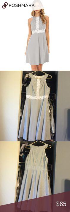 Selling this Sleeveless Halter Seersucker Dress on Poshmark! My username is: hayden44e. #shopmycloset #poshmark #fashion #shopping #style #forsale #London Times #Dresses & Skirts