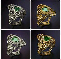 Новое #кольцо #модерн/New ring in #modern style #jewelery #menjewelry #whitegold #gold #белоезолото #золото #изумруд #emerald #diamonds #брилианты #frangue #exclusive #design #эксклюзив #дизайн #750проба #украшенияручнойработы #ring #rings #lilly #лилия #FRANGUEbyzvereV