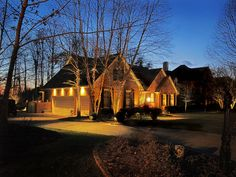 Outdoor lighting with #downlights to enhance the beauty. http://southernlightsofnc.com/gallery/