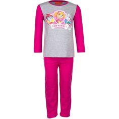 Paw Patrol Kinder Pyjama - Marshall, Skye & Everest (Grijs/Fuchsia)