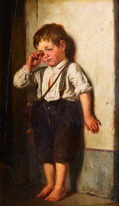 """An ofended boy"". Karl Vikentievich Lemoch"