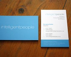 Intelligent People Business Cards by Brandify (via Creattica)