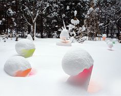 toshihiko shibuya showcases snow's vivid reflective qualities