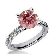 2.28 Karat Pink Diamant Ring aus 585er Weißgold. Ein Diamantring aus der Kollektion Pink von www.pearlgem.de