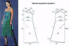 Выкройка летнего сарафана - длинный и короткий