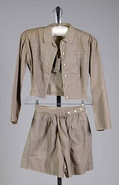 playsuit; claire mccardell (1905-1958); manufactured by townley frocks; 1949; cotton