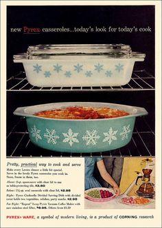 OMG! LOVE this pyrex ad! vintage pyrex rocks!