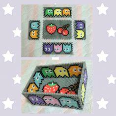 DIY Pac-Man box perler beads
