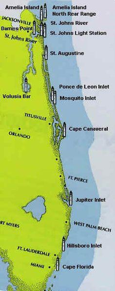 Florida Lighthouse map