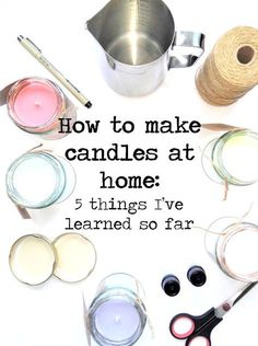 The best DIY projects & DIY ideas and tutorials: sewing, paper craft, DIY. Diy Candles Ideas How to make candles at home: 5 things I've learned so far - Ella Scribbles -Read Homemade Scented Candles, Homemade Gifts, How To Make Scented Candles At Home, Diy Candles To Sell, Diy Candles As Gifts, How To Make Candels, Diy Candels, Diy Soy Candles Scented, Diy Gifts