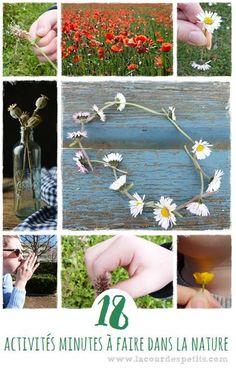 Des idées d'activité nature à faire avec les enfants : une plante, 30 secondes et c'est tout !