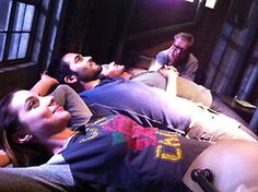 Teen Wolf ~ Relaxing Hale Style: The Hale family in a pleasant, quieter moment - with director Russell Mulcahy.