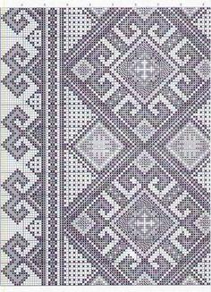 Towel Embroidery, Blackwork Embroidery, Folk Embroidery, Cross Stitch Embroidery, Embroidery Patterns, Cross Stitch Borders, Cross Stitch Rose, Cross Stitching, Cross Stitch Patterns