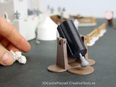 Modular Castle Playset (3D-printable) by CreativeTools.