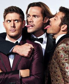 Jensen  Ackles ,  Jared  Padalecki  &  Misha  Collins  ♡