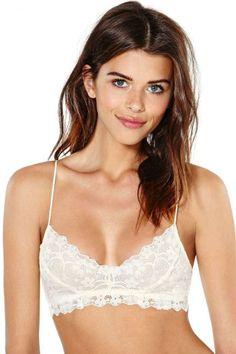 Honeydew Intimates Camilla Lace Bralette - Ivory #lingerie