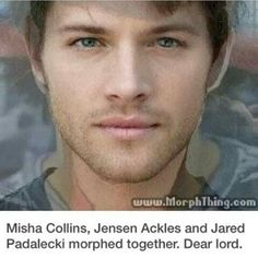 Misha,Jared, and Jensen morphed together. Dear Lord.