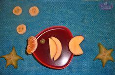 Gelatina decorada com frutas
