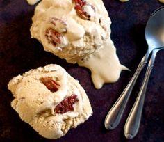 Pecan Pie Ice Cream! Refined-sugar free caramel pecan.