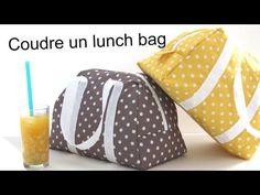 Coudre le lunch bag Elsa / Sew a lunch bag Elsa Box Couture, Couture Sewing, Lunch Bag Tutorials, Diy Pouch No Zipper, Sac Lunch, Diy Clutch, Sewing To Sell, Diy Bags Purses, Pouch Tutorial