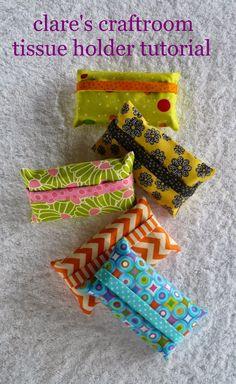 clare's craftroom: easy tissue holder tutorial