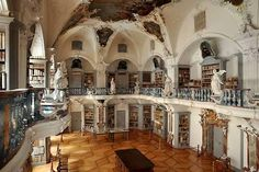 The library of the monastery of St. Peter in the Black Forest, Germany.