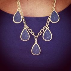 Blue and gold tear drops