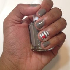 Essie Chinchilly w/ a little love @Katie Clark! We need to have a nail painting party!